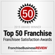 Franchise Business Review - Franchise Satisfaction Award 2006-2018; Best in Category 2018