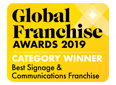 Global Franchise Award 2019 Best Signage & Communication Franchise