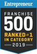 Entrepreneur Franchise 500 - Ranked #1 In Category 2017 & 2018; #70 overall and 2019