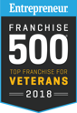 Entrepreneur Franchise 500 Top Franchise for Veterans