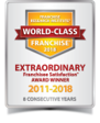 Franchise Research Institute World Class Franchise 2006-2018 - Extraordinary Franchisee Satisfaction